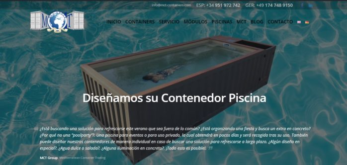 Diseño de Banner publicitario para empresa de contenedores internacional
