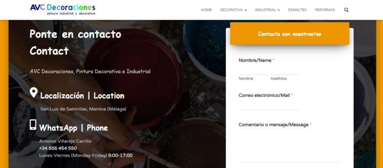 Desarrollo Web de AVC Decoraciones
