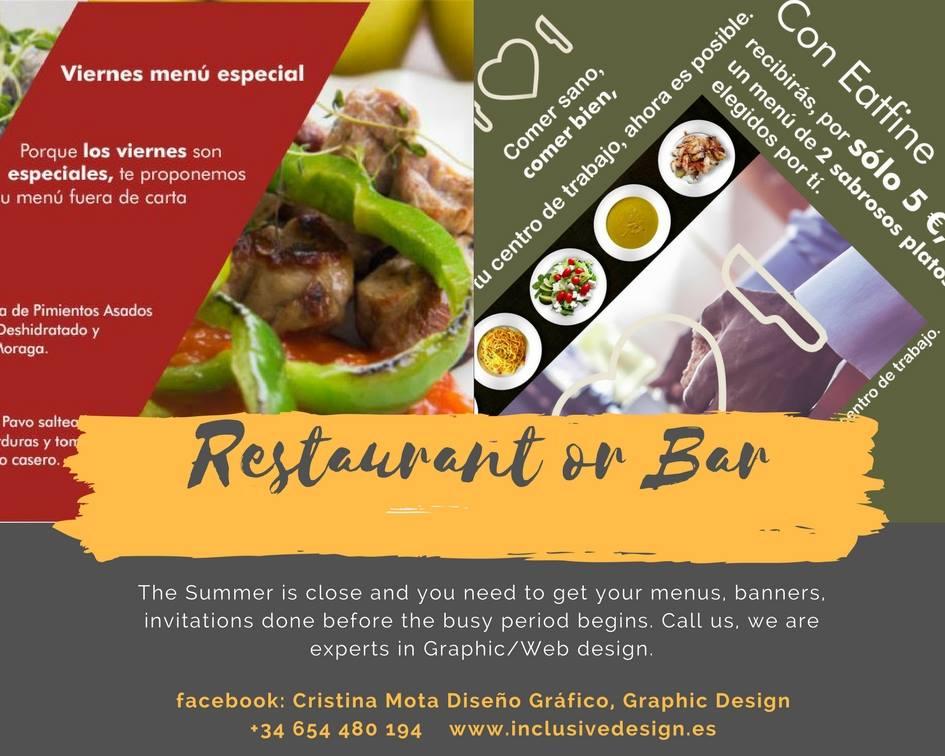 Diseño flyer para Eatfine en Málaga